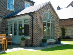 French doors in an orangery
