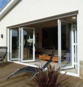 White uPVC bifold doors