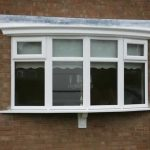 Bow style uPVC casement windows
