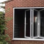 Bi-fold doors in motion