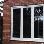 Bi-fold doors closed fully