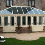 Large cream uPVC conservatory