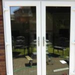 Double uPVC patio doors in white