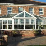 White gable front conservatory