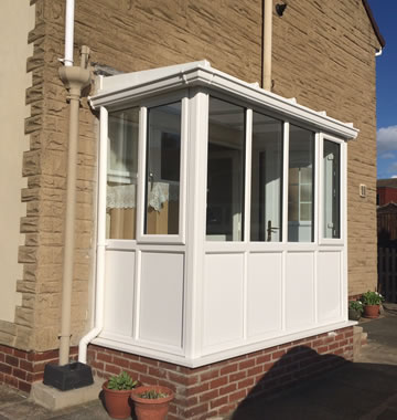 White uPVC porch and entrance door