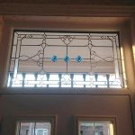 Leaded door frame glazing